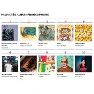1er position top 10 palmarès album francophone CKRL